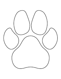 paw print template the 25 best paw prints ideas on