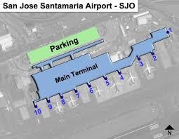 san jose airport gate map san jose airport gate map