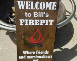 Fire Pit Signs by Funny Fall Signs Etsy