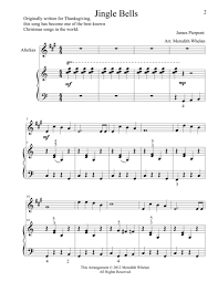duets for alto saxophone piano jingle bells