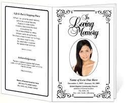 memorial service program memorial funeral bulletins simple printable