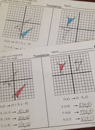 transformations in the coordinate plane artwork for the