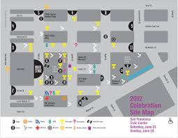 san francisco map downtown sf pride celebration map for civic center plaza in downtown san