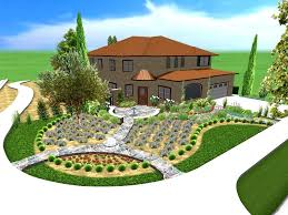 garden outstanding simple landscaping ideas for front of house