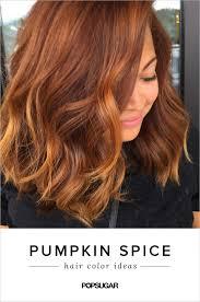 orange spice color pumpkin spice hair color trend popsugar beauty
