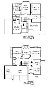 Two Storey Floor Plans Two Storey House Plans With Kitchen Upstairs Homes Zone