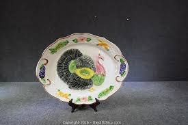 ceramic turkey platter the difference auction furniture glassware appliances and