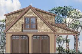 this charming craftsman garage plan can store 2 cars or 4 if