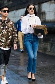 high neck romance sandra semburg lee jeans street styles and