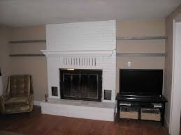 u after the black and white brick fireplace crux grey paint wash