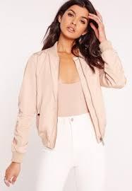 light bomber jacket womens lightweight zipped sleeve pocket bomber jacket pink clothing and