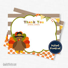 fall thank you cards turkey thank you cards