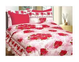 Buy Double Bed Sheets Online India Divine Casa Buy 1 Get 1 Double Cotton Abstract Bed Sheet Buy