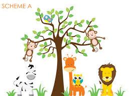 wall decal source nursery jungle tree giraffe and safari wall default name
