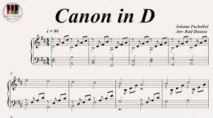 tutorial piano canon canon in d johann pachelbel piano youtube