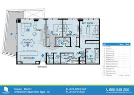 Master Bedroom Ensuite Floor Plans by By The Room 5 Bedroom 5 Baths 50 Three 3 Bedroom Apartment House