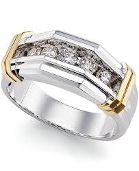rings mens diamond images Macy 39 s men 39 s diamond ring 1 2 ct t w in 10k gold and white tif