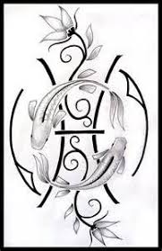 attractive tribal pisces tattoo design art pinterest pisces