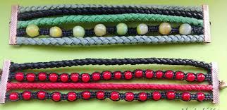 leather bracelet craft images Making a multi strand leather bracelet in black and red alternate jpg