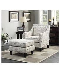 ottoman and accent chair deals on emery accent chair ottoman in french script linen