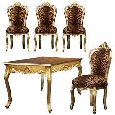 delighful animal print dining chairs exotic room ensemble leopard