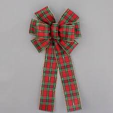 plaid christmas tartan plaid christmas wreath bow package bows