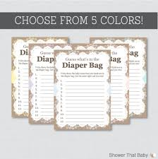 burlap and lace baby shower diaper bag game guess what u0027s