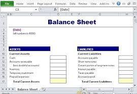 Excel Balance Sheet Template Free Simple Balance Sheet Maker Template For Excel