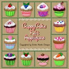 cuppycakes felt appliques collection machine embroidery designs