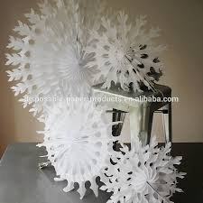 white paper tissue fan christmas decorations paper tissue