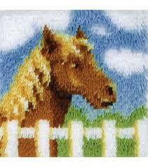 wonderart latch hook kit 12 x12 pony joann