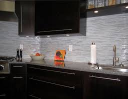 Modern Backsplash Kitchen Espresso Kitchen With Glass And Marble Mosaic Tile Backsplash