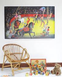 chambre cirque collection affiche le cirque chambre d enfant mulubrok