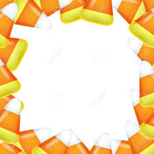 candy corn frame sweet treat background halloween design