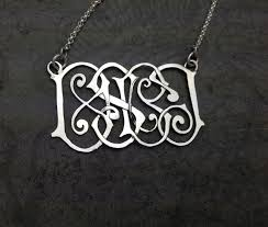 monogram pendants handmade traditional or multi initial family monogram pendants by