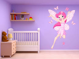 stickers geant chambre fille stickers fille fée et papillons