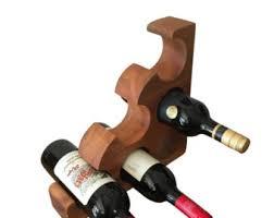 wooden wine rack elephant standing wine bottle holder wine