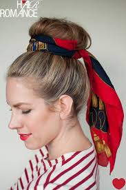 5 ways to wear a scarf and top knot 2 the sash hair romance