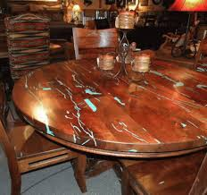 wonderful and interesting mesquite dining room table intended for