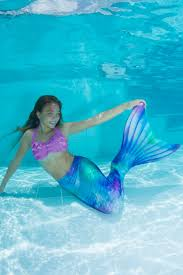 swimmable mermaid tails for kids and adults watercolor waves