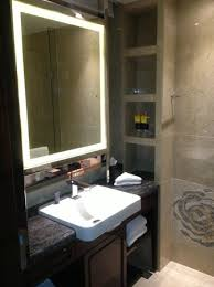 Framing Bathroom Mirrors by Bathroom Mirror With A Lighted Frame Picture Of Victoria Grand