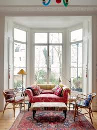 Best Living Room In A Row House Images On Pinterest Living - Furniture placement living room bay window