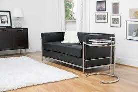 le corbusier black leather sofa chicago furniture