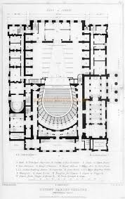 opera house floor plan a plan of the second covent garden theatre from illustrations
