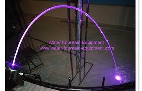 water fountain with lights custom rainbow glass light jet fountain with led light for swimming
