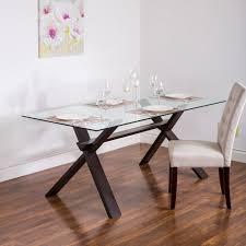 rectangle glass dining room table ksp kona rectangle glass dining table walnut kitchen stuff plus