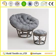 charcoal grey microsuede papasan chair cushion cover round stool