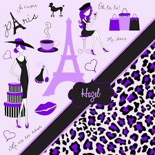 Paris Fabric Shower Curtain by Paris Girls Shower Curtain With Purple Eiffel Tower And Cheetah