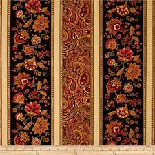 Shopping For Home Decor Online Timeless Treasures Marigold Border Stripe Black From Fabricdotcom