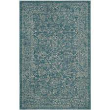 Turquoise Indoor Outdoor Rug 4 X 6 Turquoise Outdoor Rugs Rugs The Home Depot